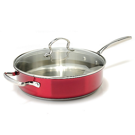 439-117 - Kevin Dundon Signature Collection Colored Stainless Steel 11'' Saute Pan w/ Glass Lid