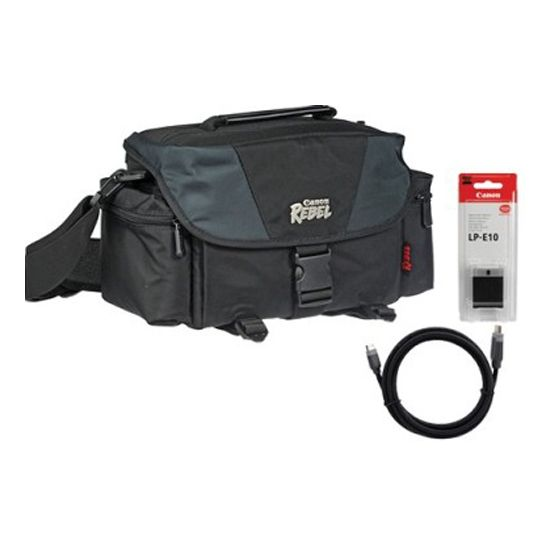 439-233 - Canon Starter Kit for EOS Rebel T3 Digital SLR w/ Gadget Bag, Battery & Mini-HDMI Cable