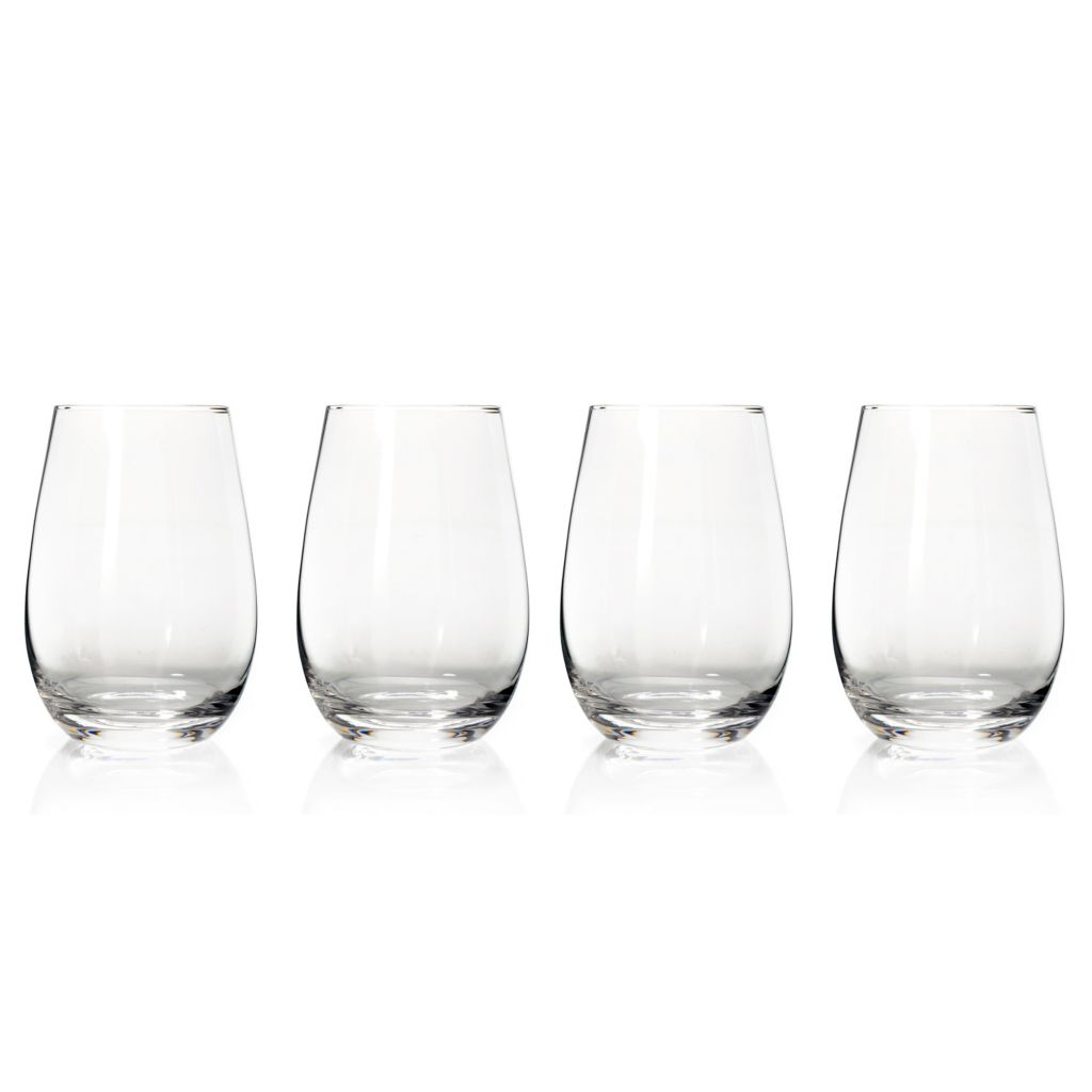 439-265 - Marquis® by Waterford® Vintage Set of Four 16 oz Crystalline Stemless Glasses