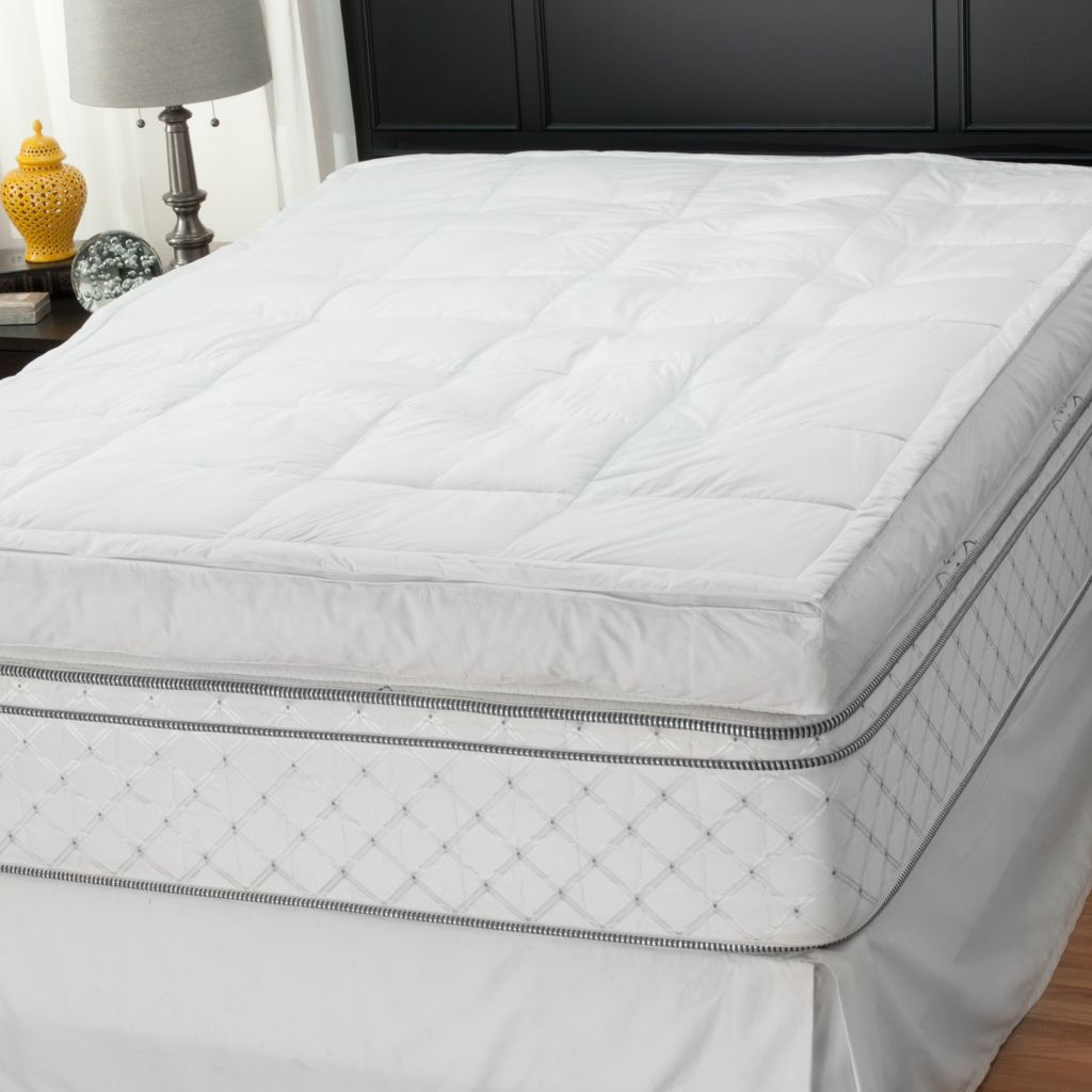 "439-268 - Cozelle® 5"" Gusseted 233TC Cotton Featherbed Mattress Topper"