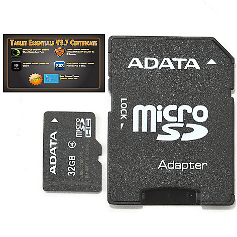 439-393 - Adata Micro SD Memory Card w/ SD Card Adapter & Software