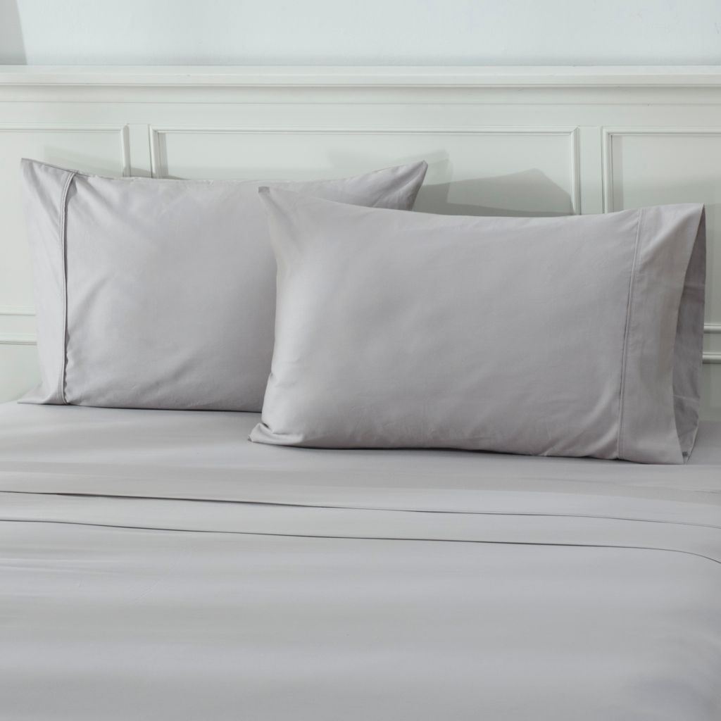439-432 - North Shore Linens™ 600TC 100% Egyptian Cotton Sateen Pillowcase Pair