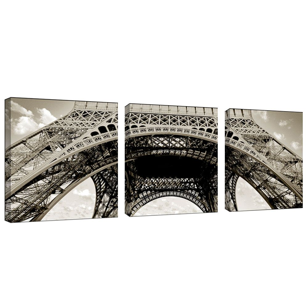 "439-536 - Preston ""Tour de Eifel"" Gallery Wrapped Three-Piece Canvas Art Set"
