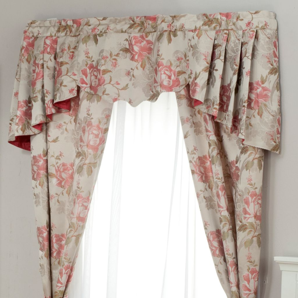 439-572 - North Shore Linens™ Rose Jacquard Window Valance