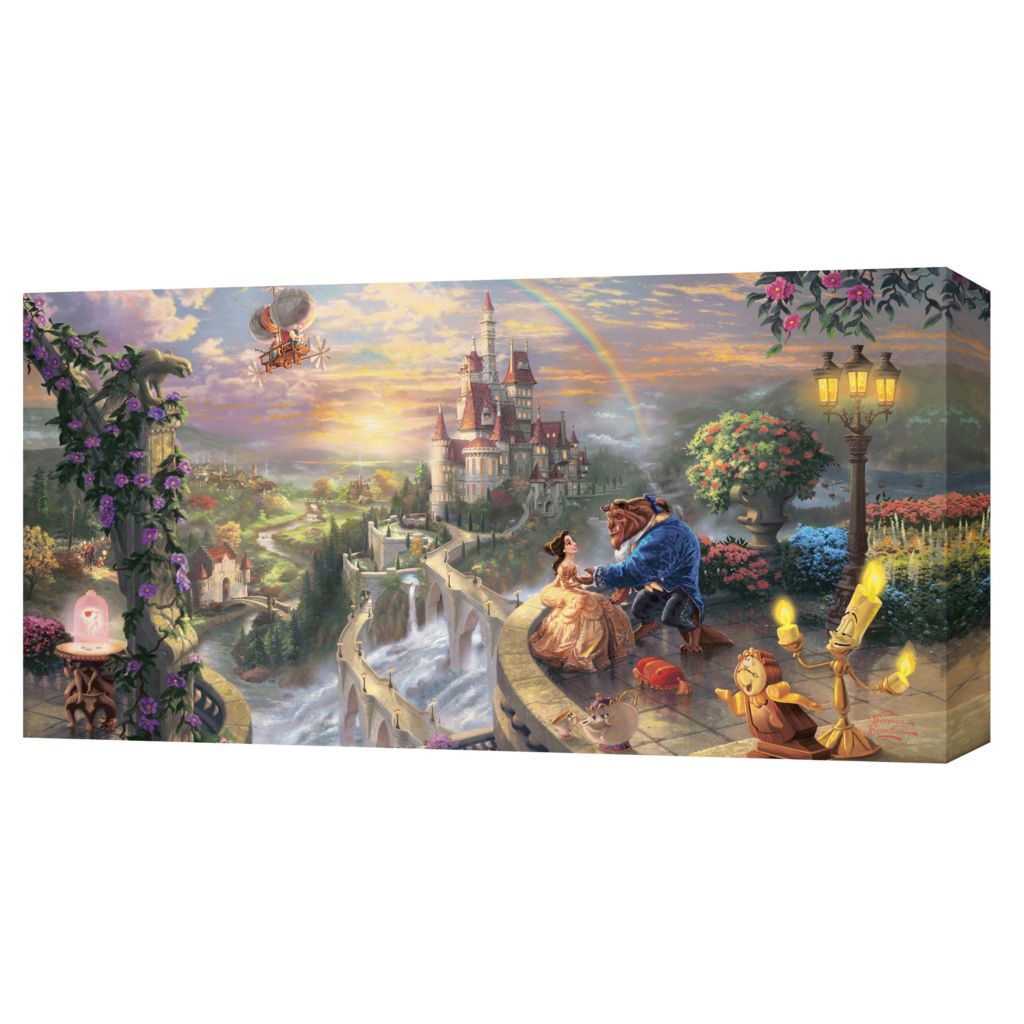 "439-605 - Thomas Kinkade Disney Dreams 16"" x 31"" Panoramic Gallery Wrap"