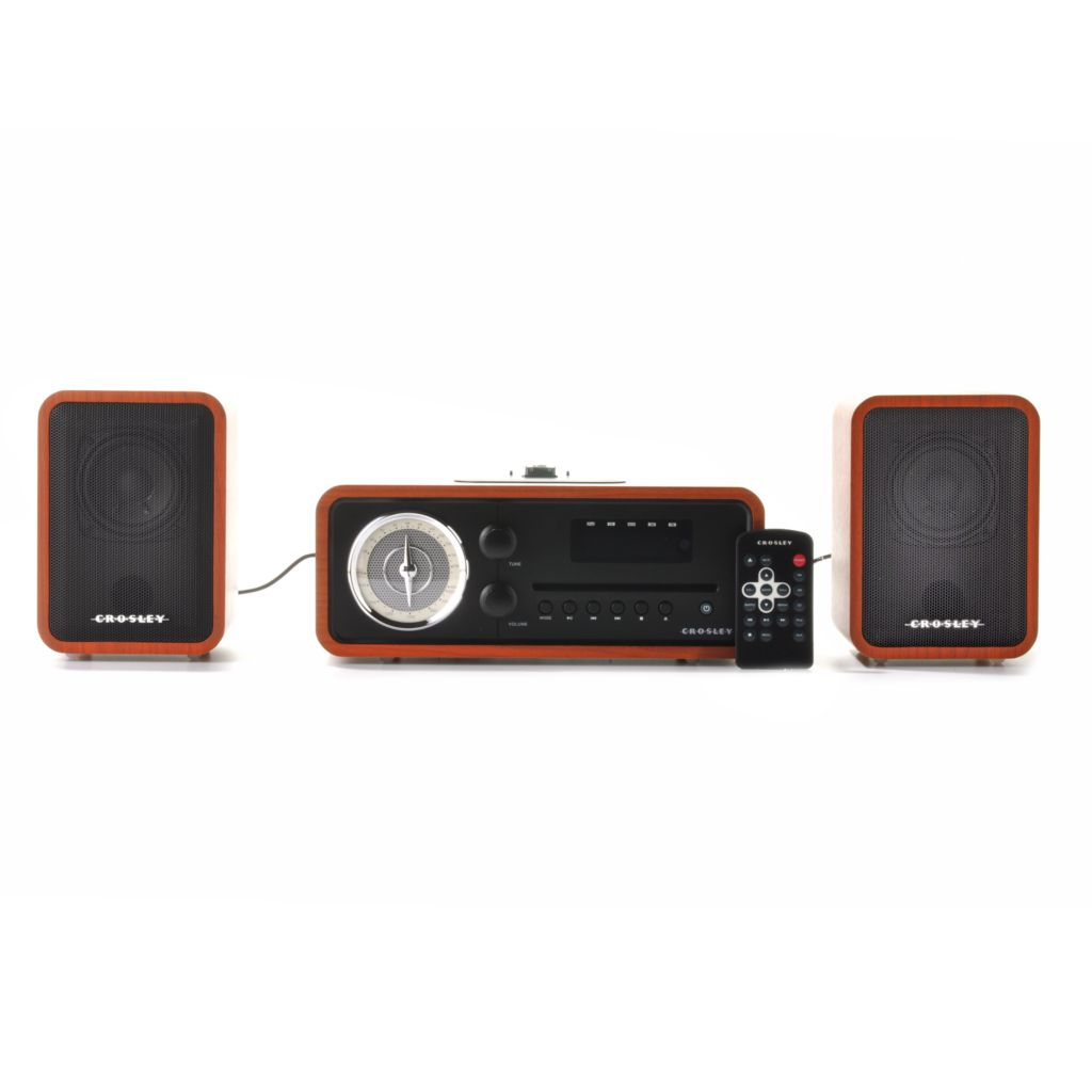 439-609 - Crosley 30W Audiophile Stereo System w/ Dock for iPod®, iPhone® & iPad®