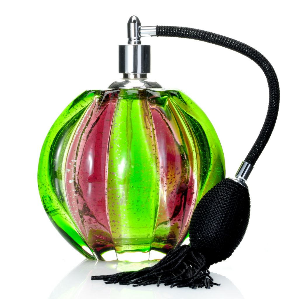"439-641 - Favrile 6.5"" Hand-Blown Art Glass Farrah Perfume Bottle"