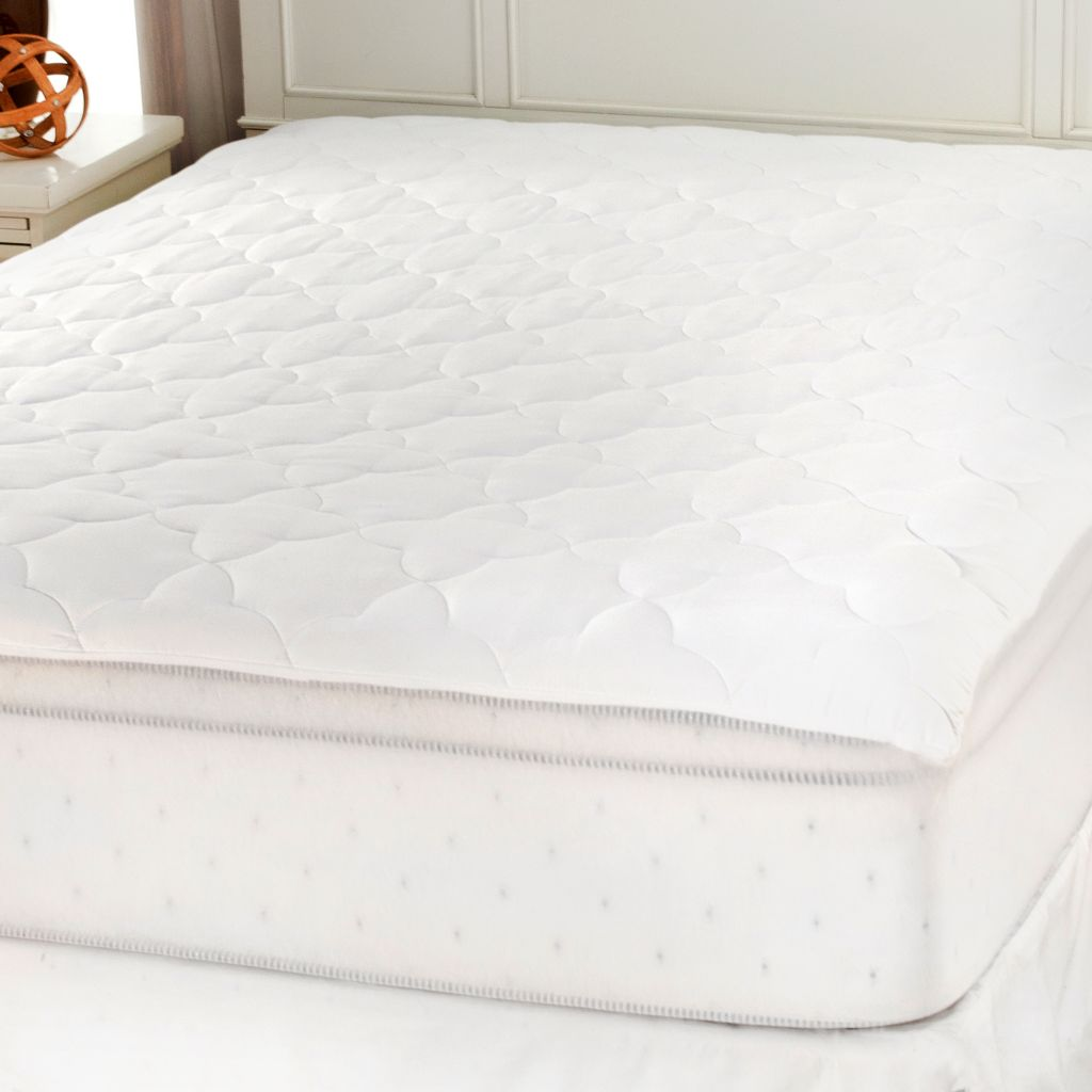 439-654 - Cozelle® Stain & Water Resistant Stitched Turkish Tile Mattress Pad