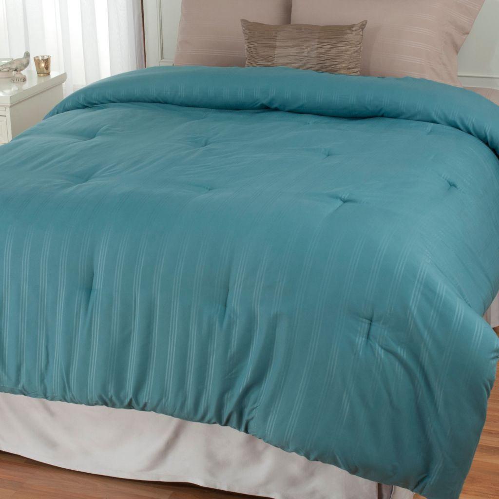 439-657 - Cozelle® Microfiber Stripe Down Alternative Comforter
