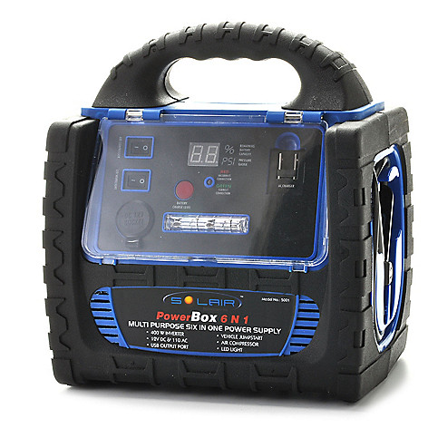 439-663 - Solair™ PowerBox Digital Display 6-in-1 Jumpstarter & AC Power Supply w/ Air Compressor