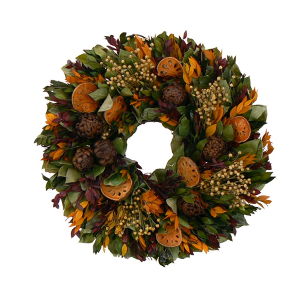 439-667 - Christmas Tree Company Farmer's Market Dried Floral Wreath