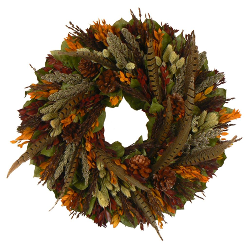 439-668 - Christmas Tree Company Autumn Retreat Dried Floral Wreath