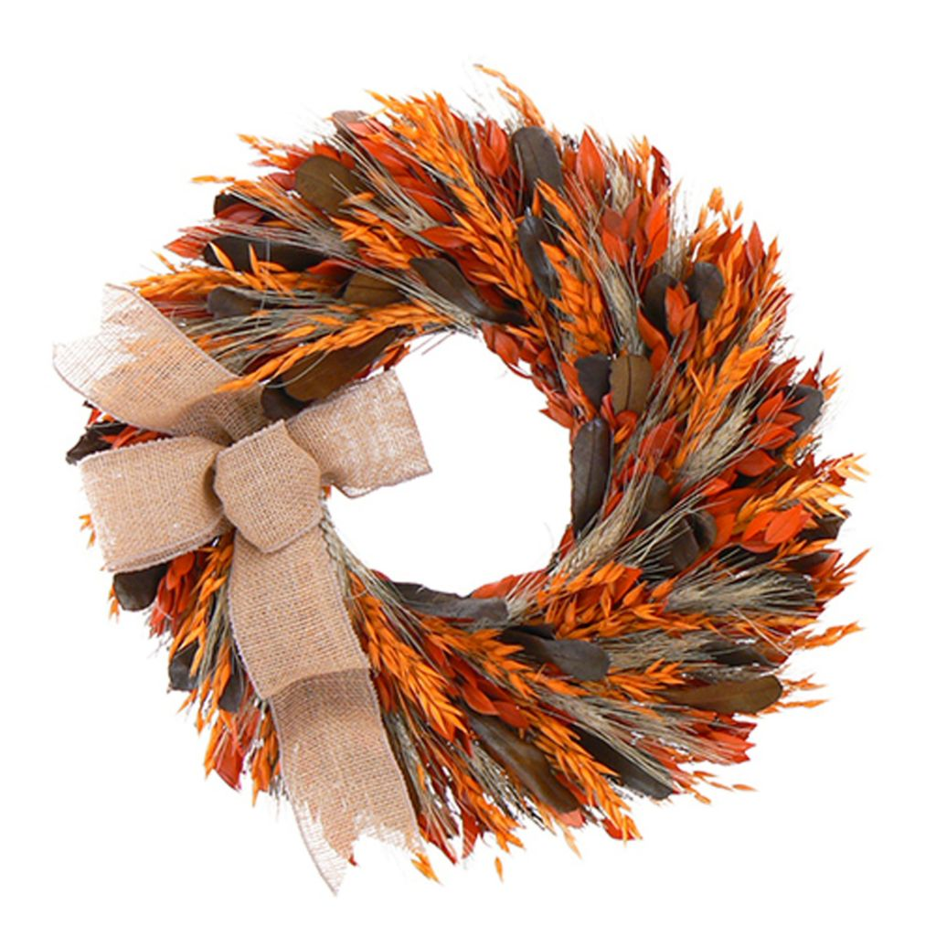 439-669 - Christmas Tree Company Harvest Swirl Dried Floral Wreath