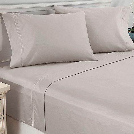 439-678 - North Shore Linens™ 1000TC Cotton Sateen Double Marrow Four-Piece Sheet Set