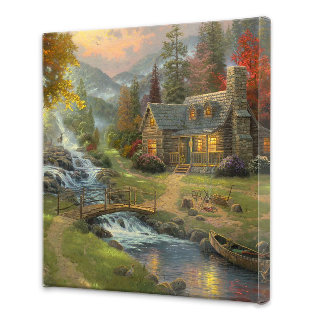 "439-692 - Thomas Kinkade Mountain Retreat Collection 20"" x 20"" Gallery Wrap"