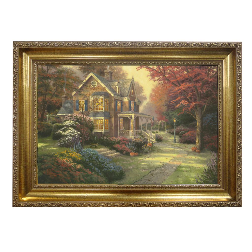 "439-694 - Thomas Kinkade ""Victorian Autumn"" Framed Textured Print"