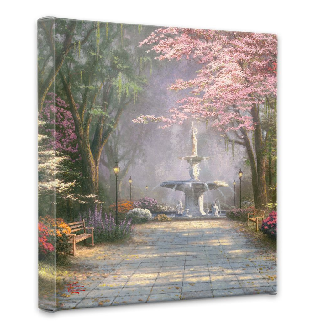 "439-697 - Thomas Kinkade ""Savannah Romance"" 14"" x 14"" Gallery Wrap"