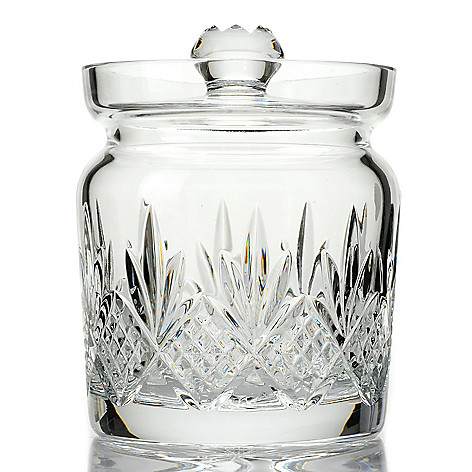 439-717 - Waterford® Crystal Kelley 6.75'' Wedge & Diamond Cut Biscuit Barrel w/ Lid
