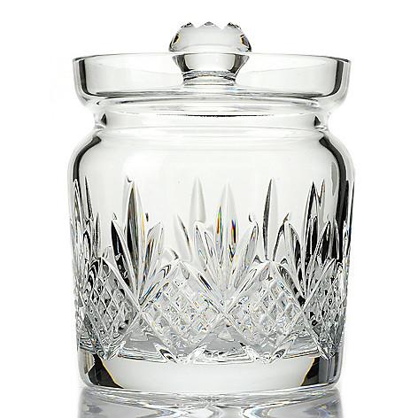 439-717 - Waterford® Crystal Kelley 6.75'' Wedge & Diamond Cut Biscuit Barrel w/ Lid