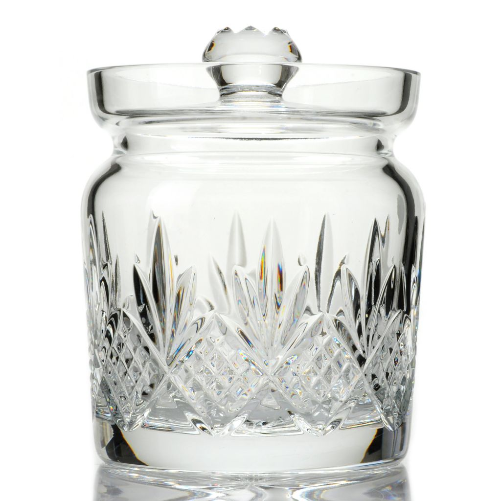 "439-717 - Waterford® Crystal Kelley 6.75"" Wedge & Diamond Cut Biscuit Barrel w/ Lid"