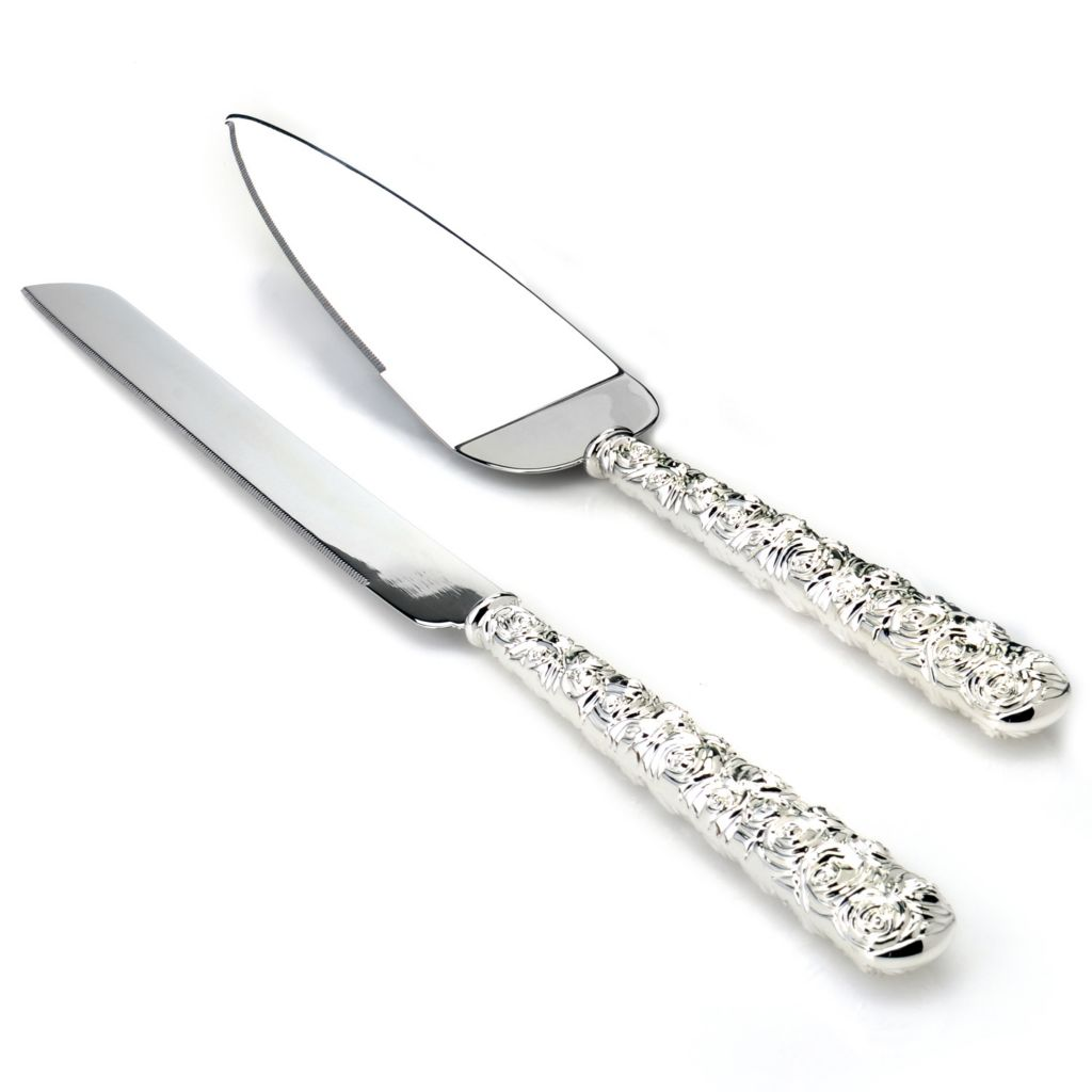 439-761 - Waterford® Monique Lhuillier Sunday Rose Two-Piece Cake Knife & Server Set