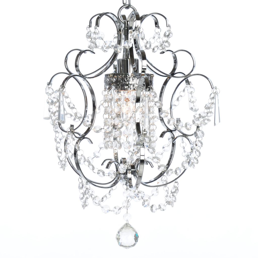 "439-770 - Crystal Lighting Statements 17"" One-Light Crystal Glass Chandelier"