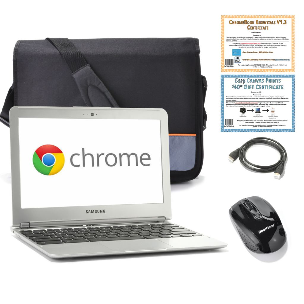 "439-805 - Samsung 11.6"" Dual-Core 1.7GHz 2GB RAM/16GB SSD Google Chromebook w/ Accessories"