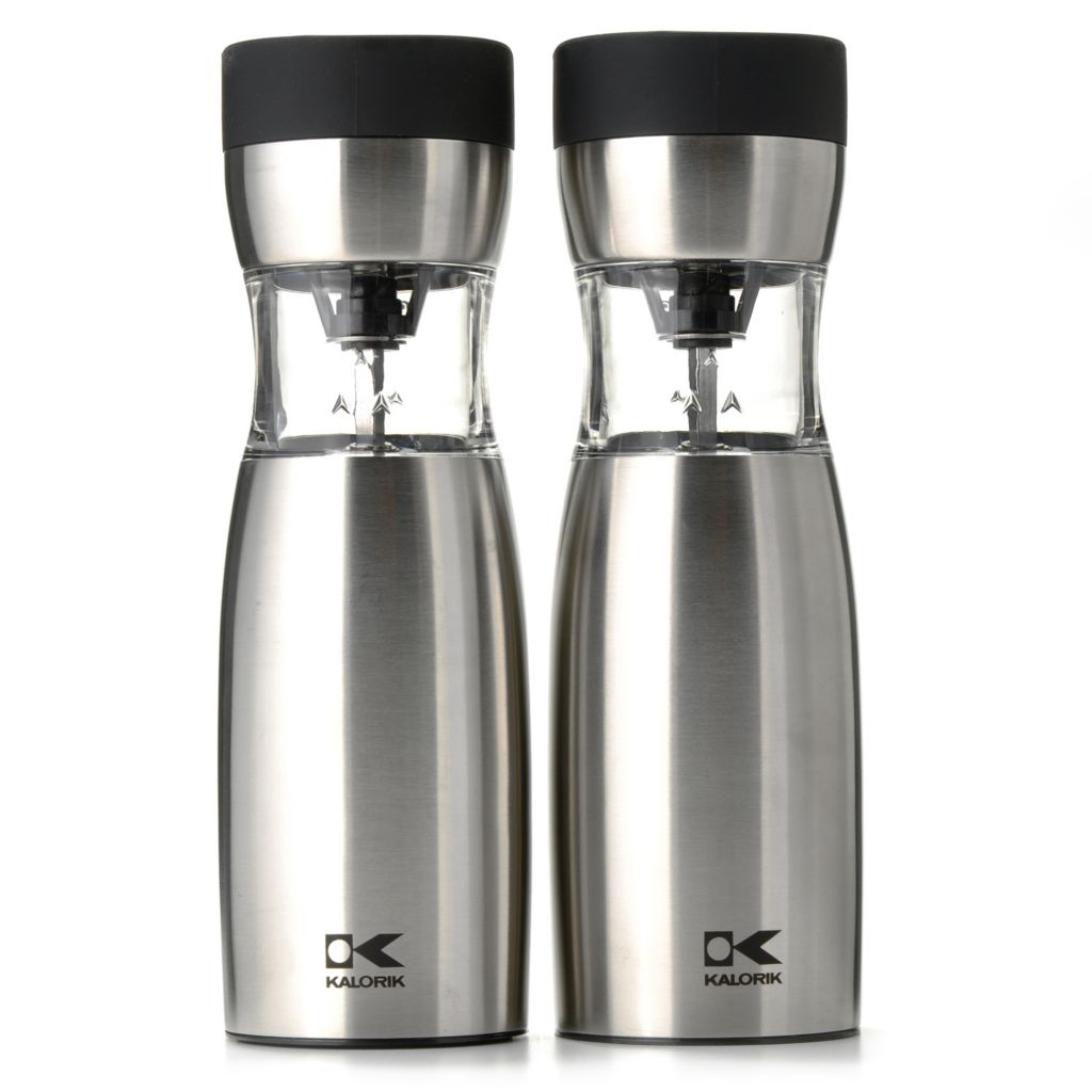 439-808 - Kalorik® Two-Piece Electric Salt & Pepper Gravity Mill Set