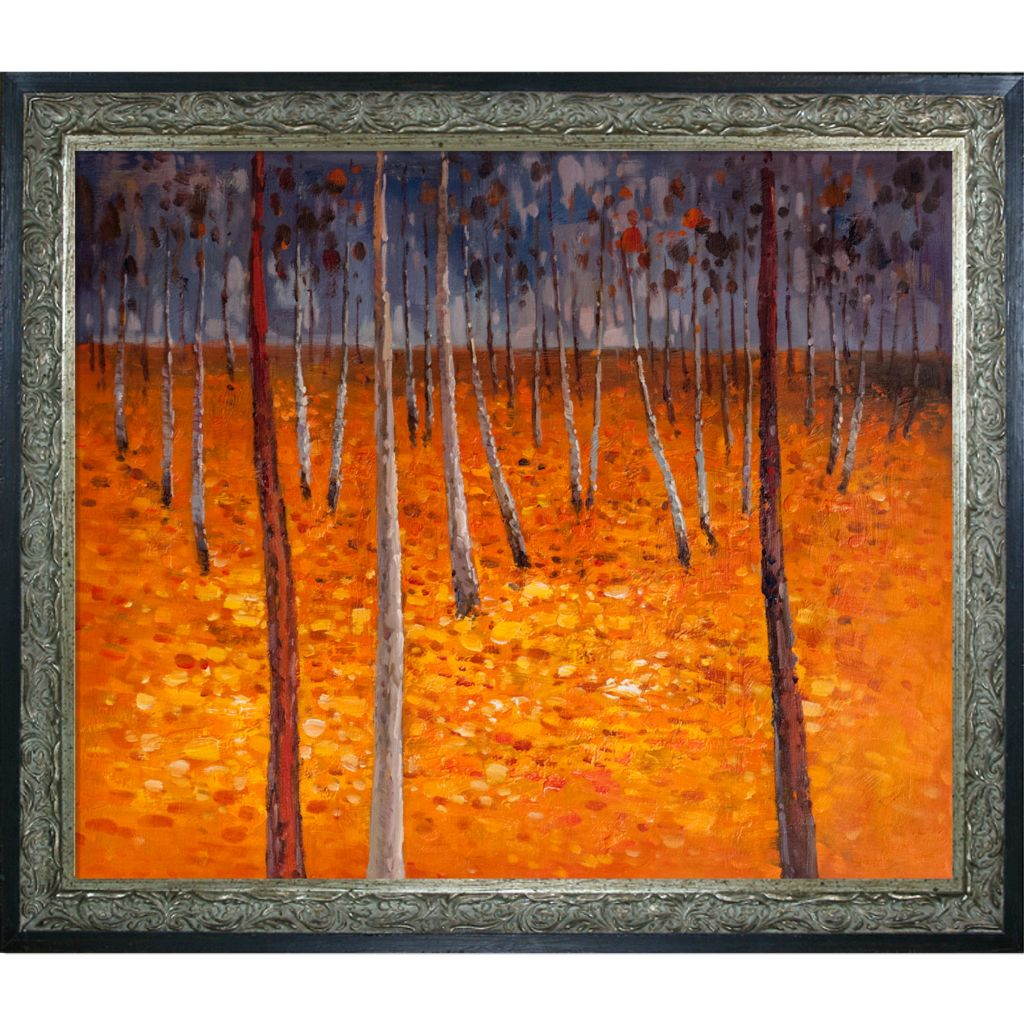 "439-817 - Klimt 20"" x 24"" Beech Forest I Reproduction Framed Painting"