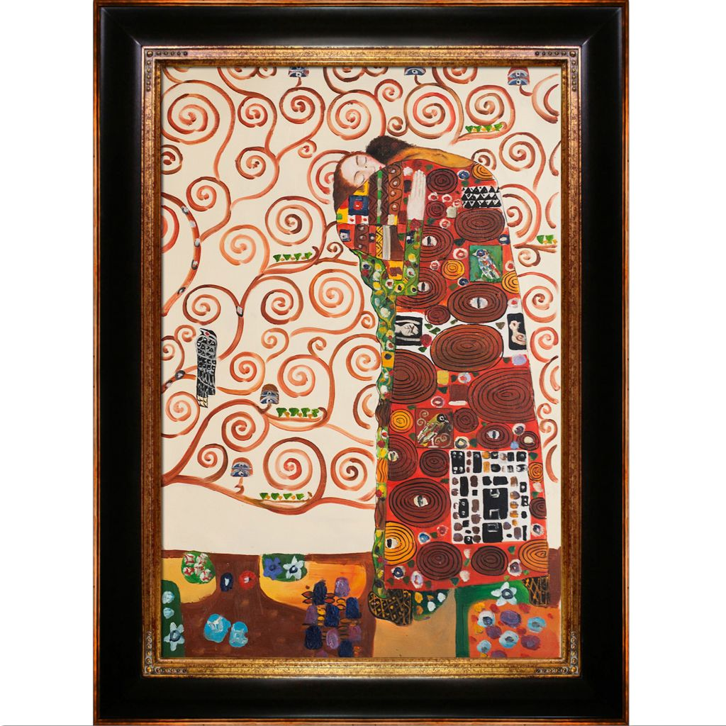 "439-827 - Klimt 24"" x 36"" Fulfillment (The Embrace) Reproduction Framed Painting"