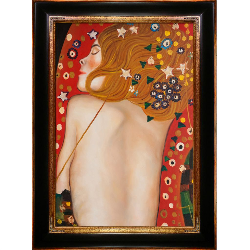 "439-828 - Klimt 24"" x 36"" Sea Serpents IV (Modest) Reproduction Framed Painting"