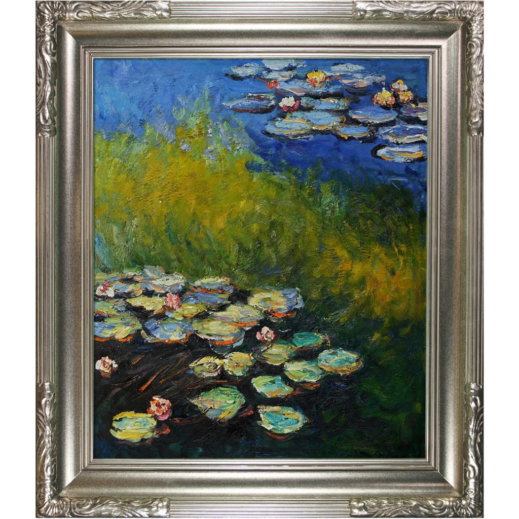 "439-835 - Monet 20"" x 24"" Water Lilies Reproduction Framed Painting"