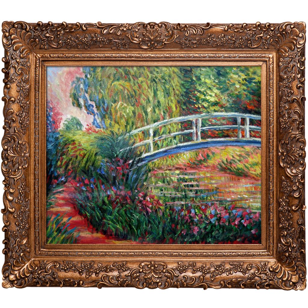 "439-837 - Monet 20"" x 24"" The Japanese Bridge Reproduction Framed Painting"