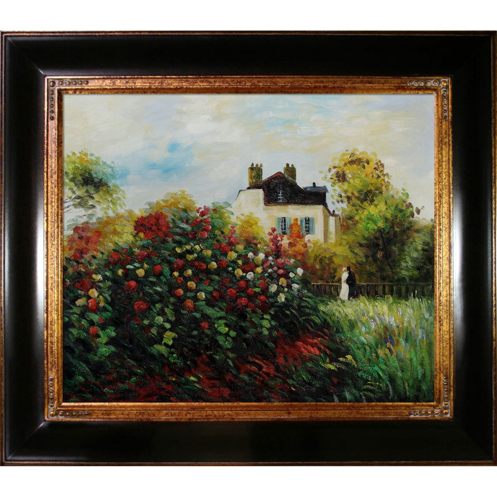 "439-839 - Monet 20"" x 24"" The Artist's Garden Reproduction Framed Painting"