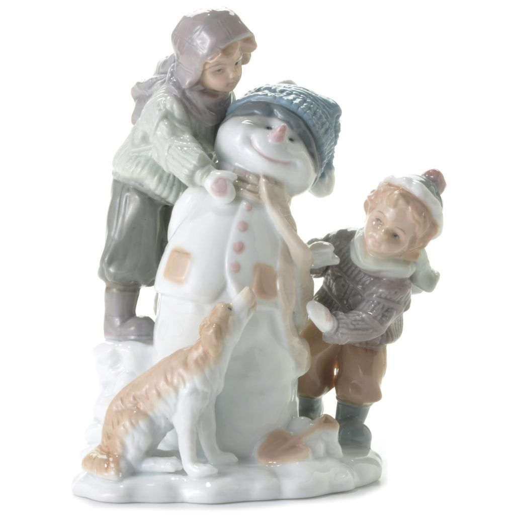 "439-873 - Sorelle® ""Frosty the Snowman"" 9"" Porcelain Hand-Crafted Figurine"