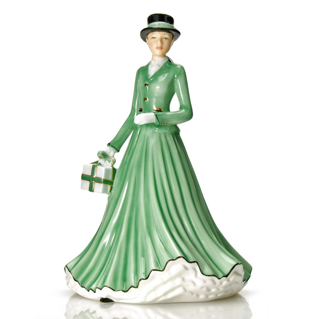 "439-956 - Royal Doulton® Wish You a Merry Christmas 7"" Hand-Decorated Bone China Figurine"