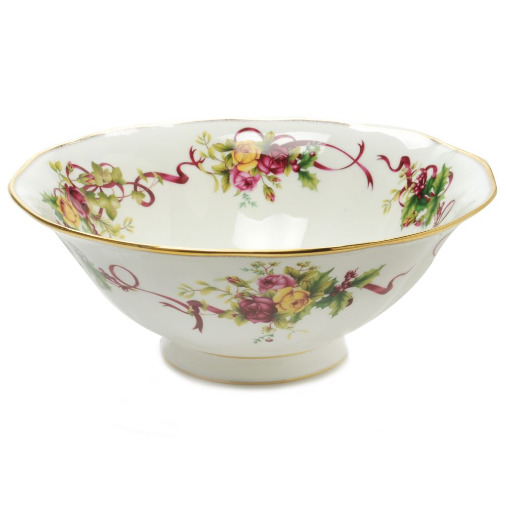 "439-962 - Royal Albert® Old Country Roses 10.25"" Bone China Serving Bowl"
