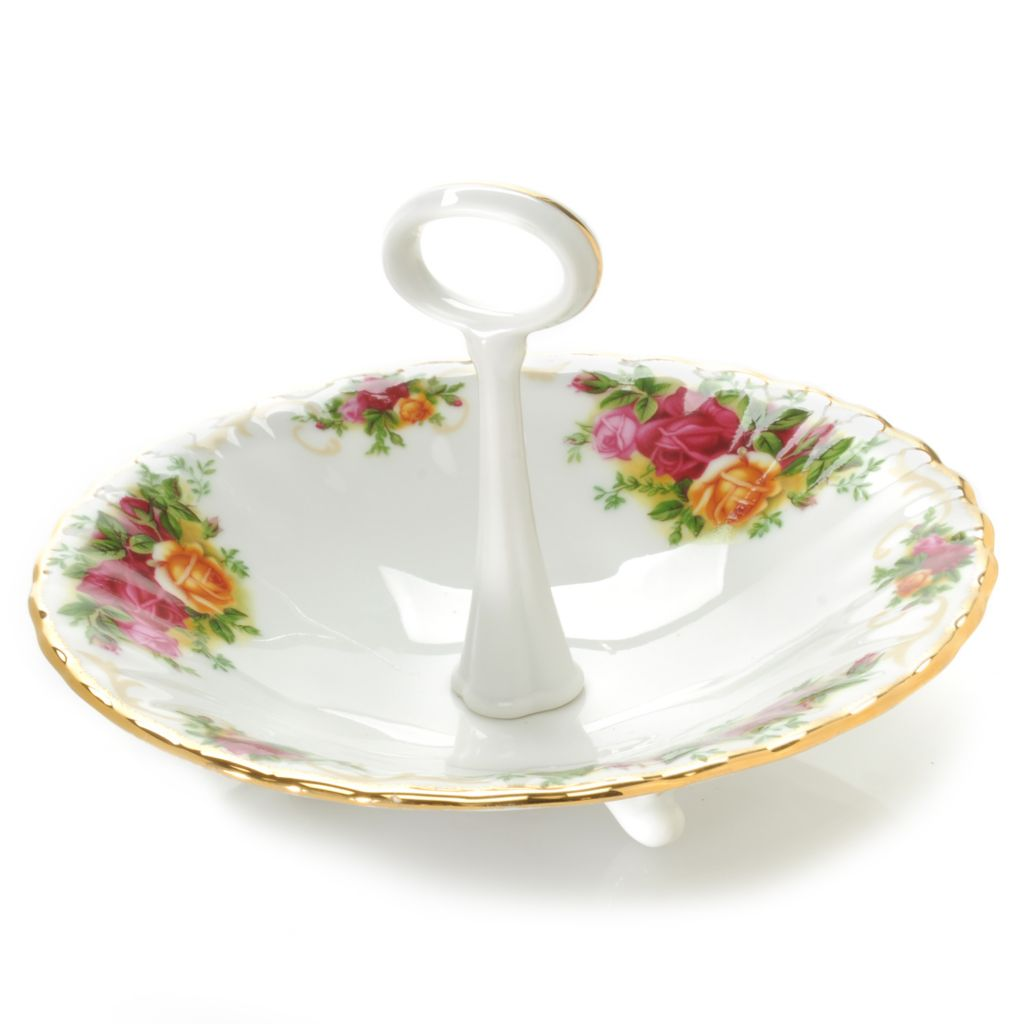 "439-965 - Royal Albert® 4.5"" Old Country Roses Porcelain Candy Dish"