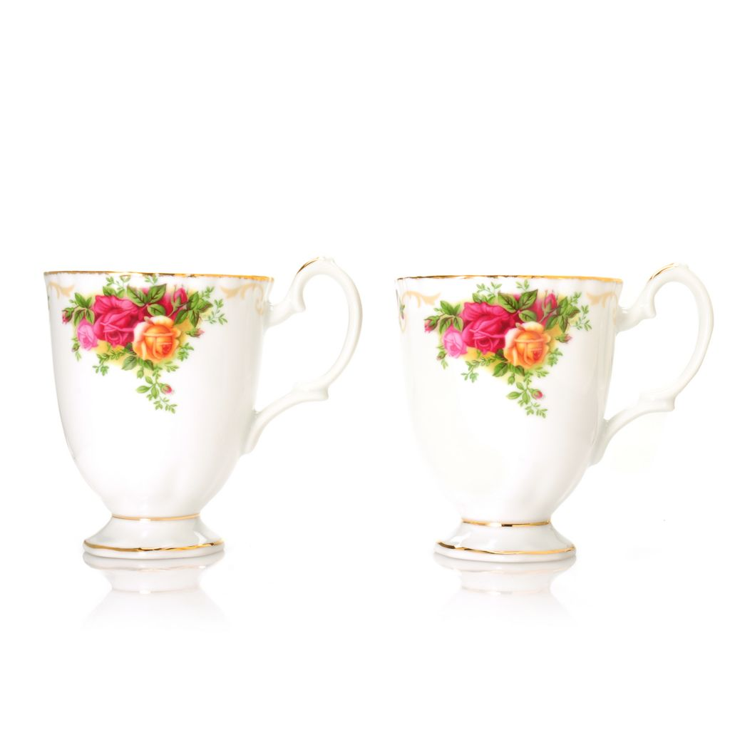 439-967 - Royal Albert® Old Country Roses Set of Two 12 oz Bone China Mugs
