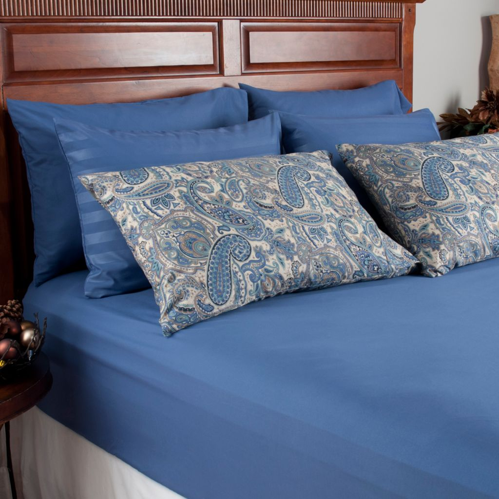 439-975 - Cozelle® Microfiber Solid, Striped & Paisley Six-Piece Pillowcase Set