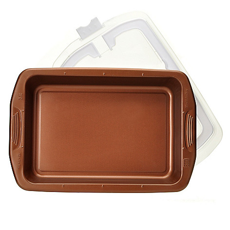 439-986 - Cook's Companion™ Color Nonstick 13'' x 9'' Roast Pan & Carrying Cover Set