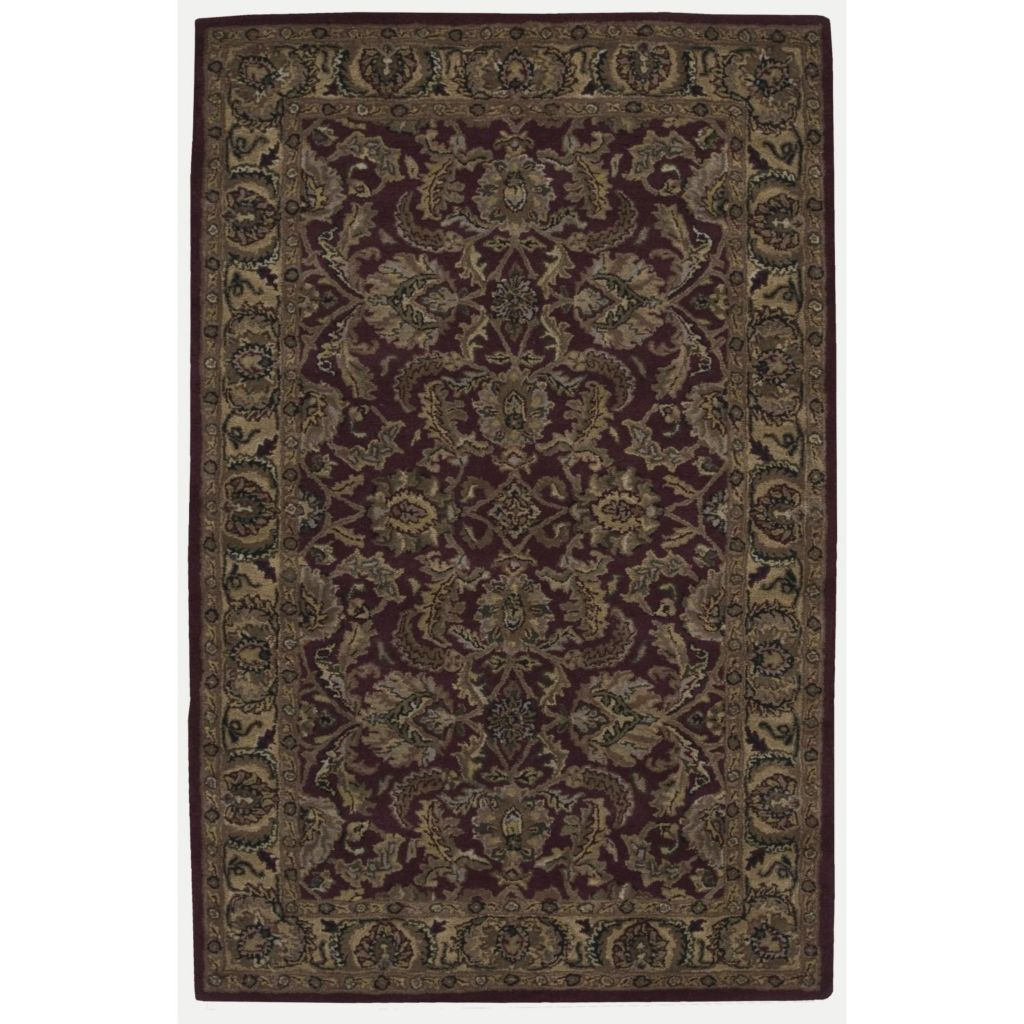 440-011 - Nourison India House Burgundy or Gold Heriz Design Rug