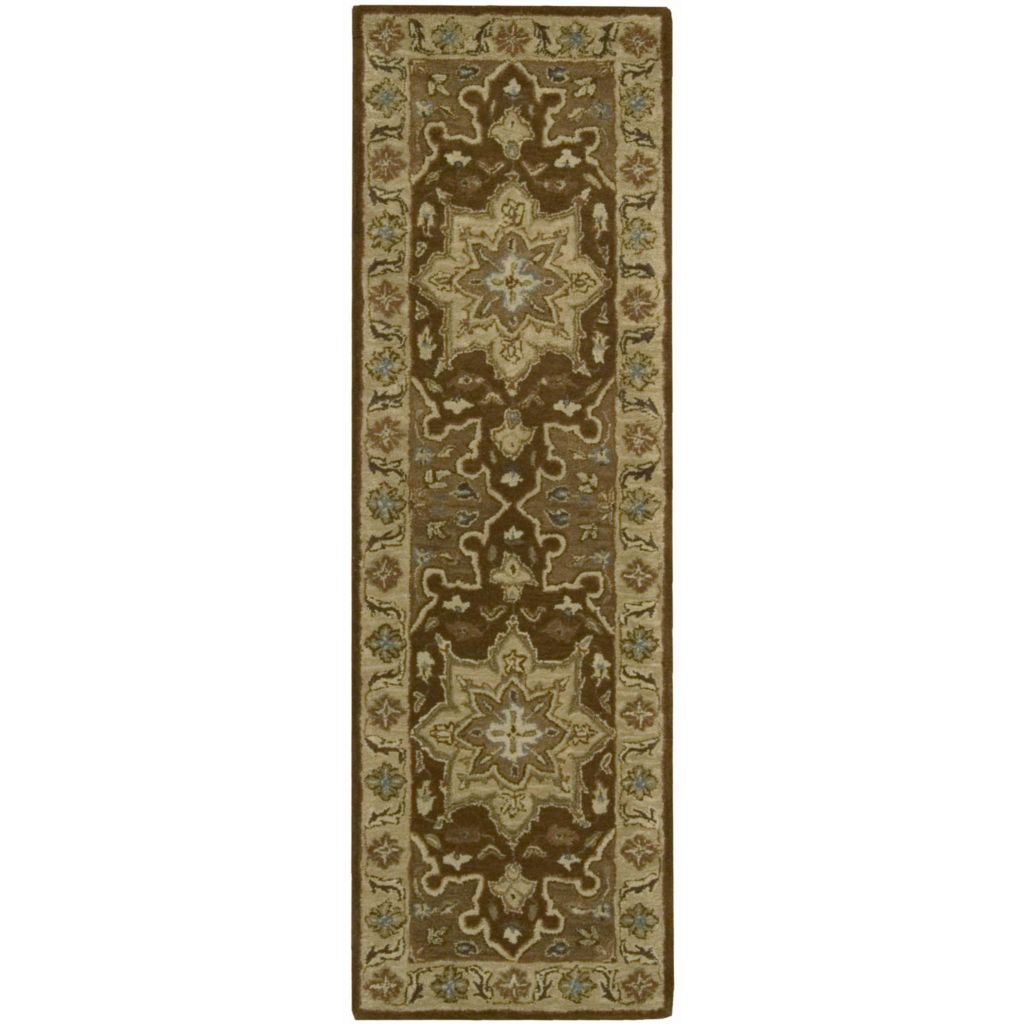 440-012 - Nourison India House Chocolate or Olive Heriz Design Rug