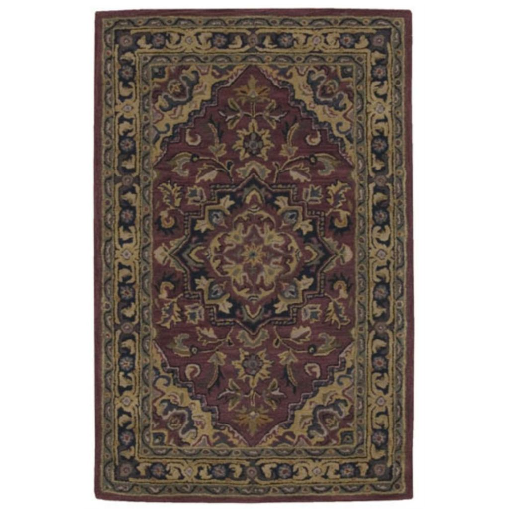 440-013 - Nourison India House Rust Medallion Rug