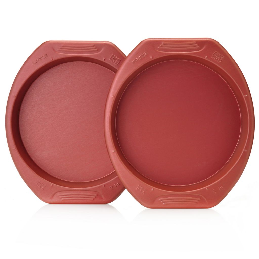 "440-047 - Cook's Companion™ Set of Two Color Nonstick 9"" Round Cake Pans"