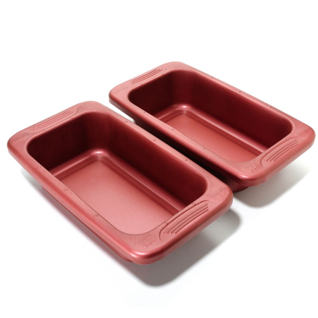 "440-048 - Cook's Companion™ Set of Two 9"" x 5"" Color Nonstick Loaf Pans"