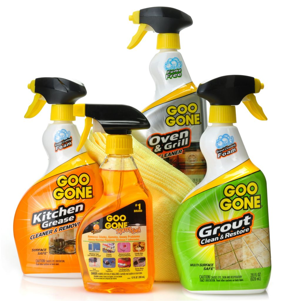 440-065 - Goo Gone™ Four-Piece Whole Home Cleaning Kit w/ Microfiber Wipes