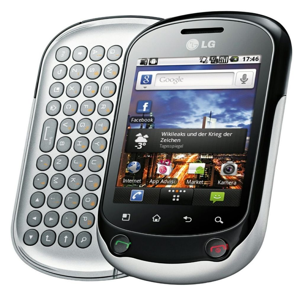 440-125 - LG Optimus Chat Unlocked GSM Android™ Slider Smartphone