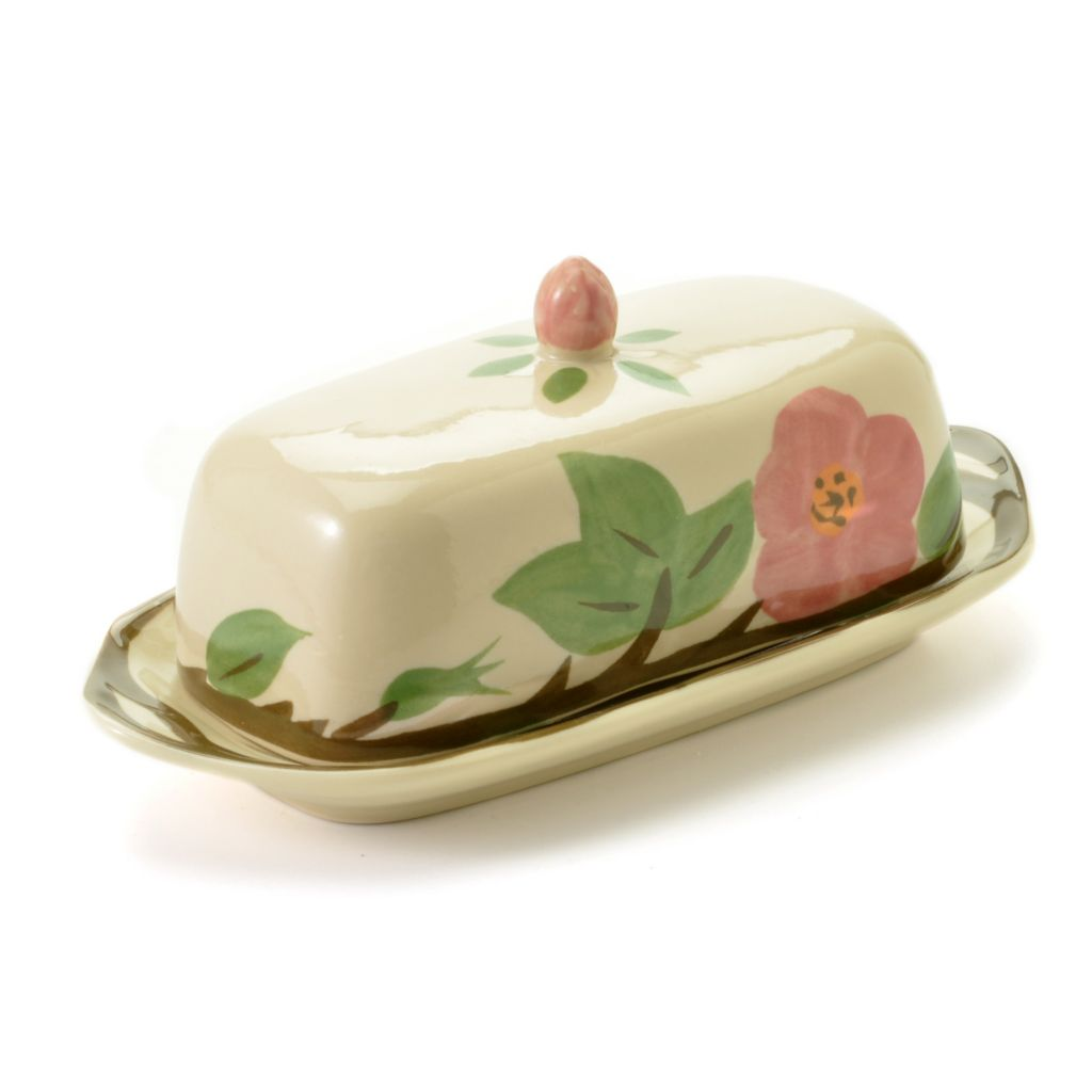 440-170 - Franciscan® Desert Rose Earthenware Butter Dish w/ Cover