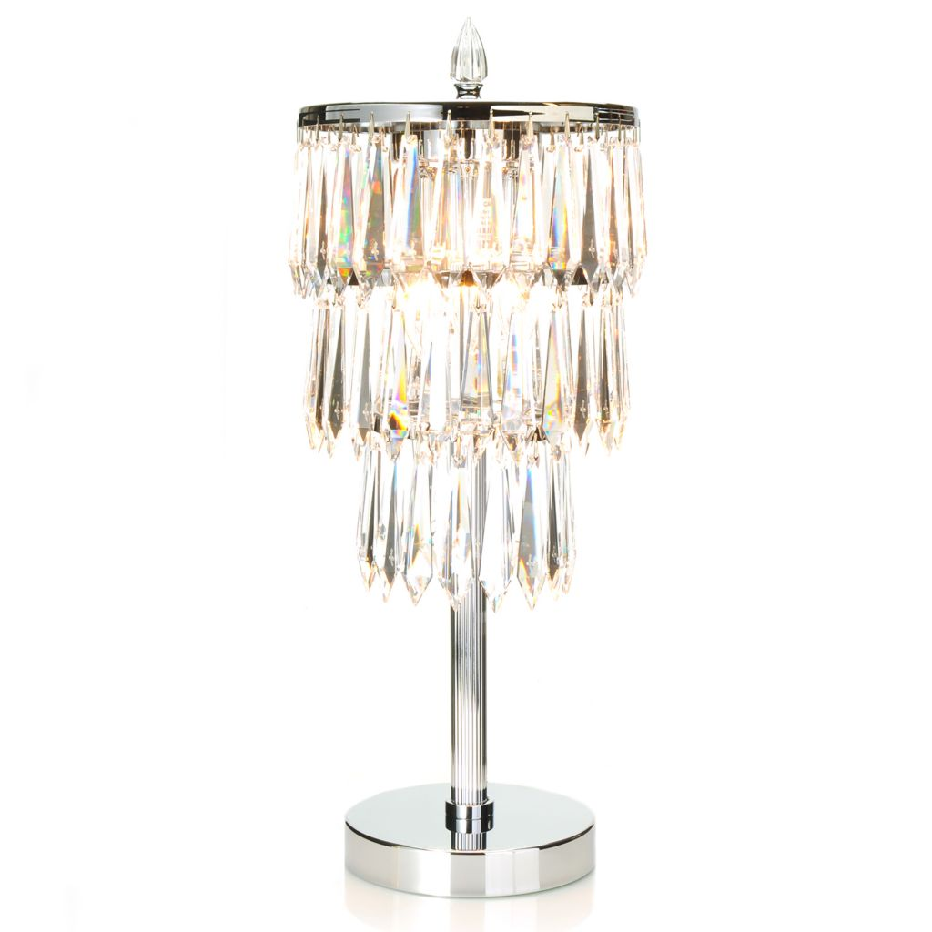 "440-174 - Waterford® 22.5"" Monique Etoile Nouveau Crystal Table Lamp"
